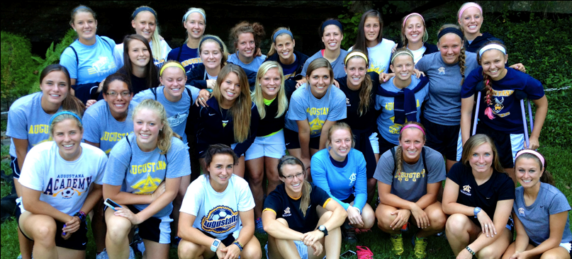 Augustana's women soccer team, currently 3-1, look to defend their winning streak against Minnesota State University Moorhead in their home opener at 11 a.m., Saturday, at Morstad Field.  Photo by Kara Bartels.
