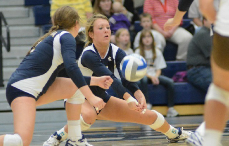 Brittany Cech, a freshman outside hitter, tallied 12 kills in Augustana's loss on Saturday to Concordia-St. Paul.